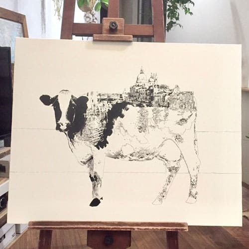 cow x venice by 乙部遊 a.k.a. ikemeso