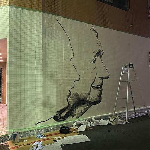 壁画@エドヤガレージ