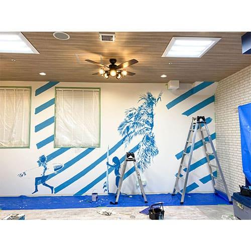 湘南のオフィスに壁画アート